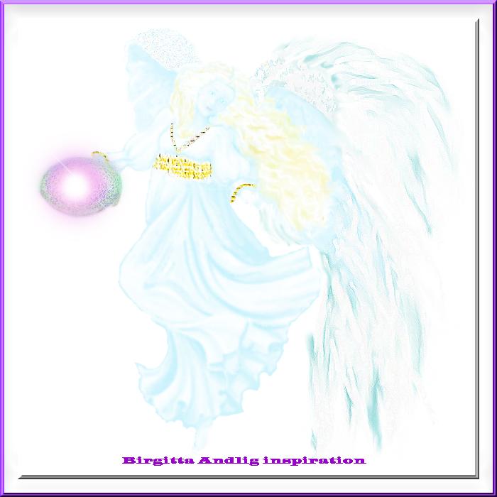 Ärkeängel Hope inramad_Birgitta Andlig inspiration33