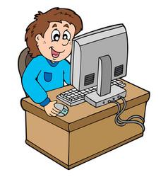 Denna bild har ett alt-attribut som är tomt. Dess filnamn är cartoon-boy-working-with-computer-vector-21575862.jpg
