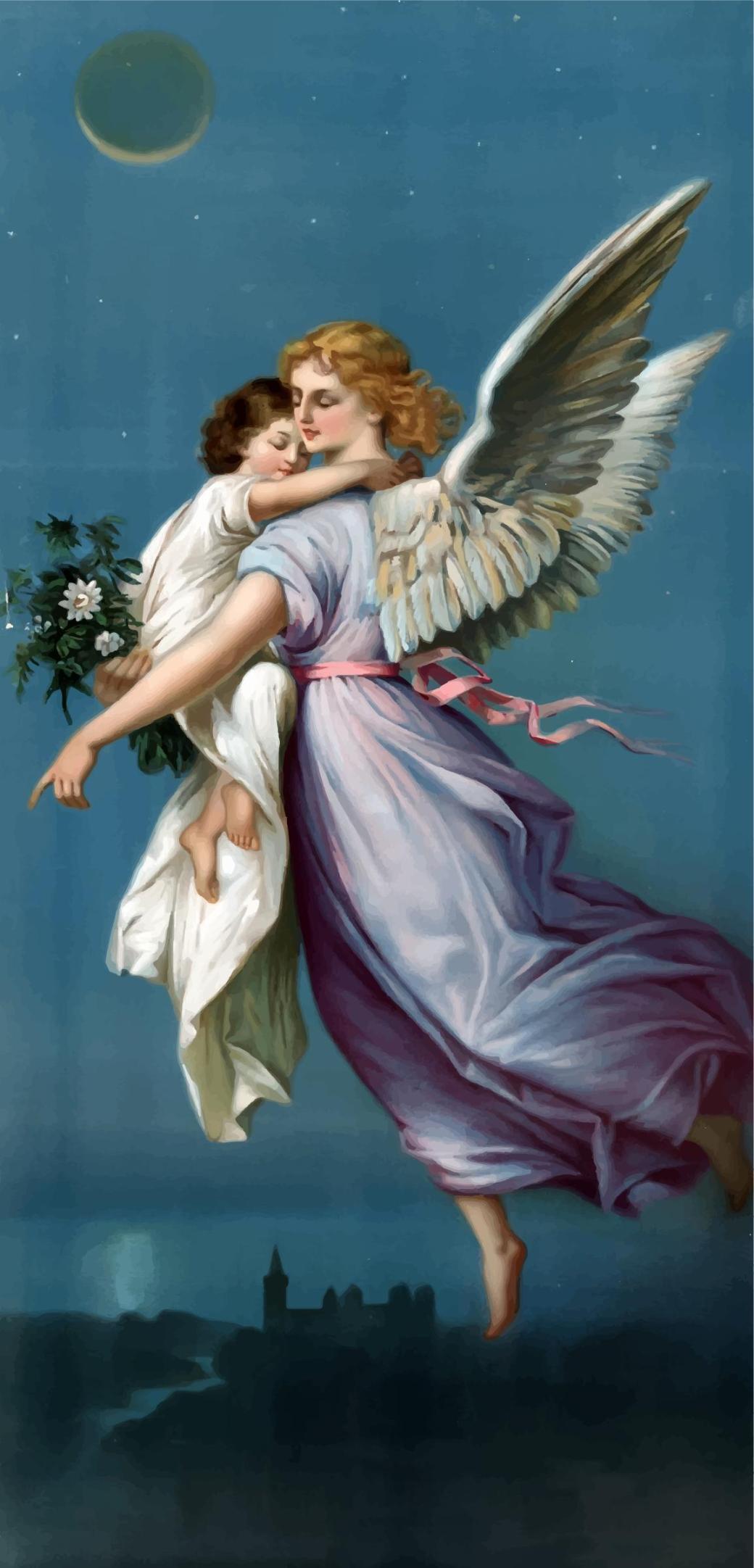 vintage-angel-and-child-illustration