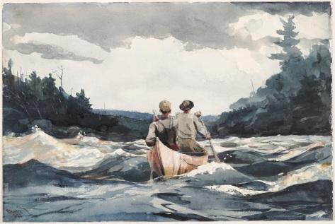 Winslow_Homer_-_Canoe_in_Rapids_(1897)