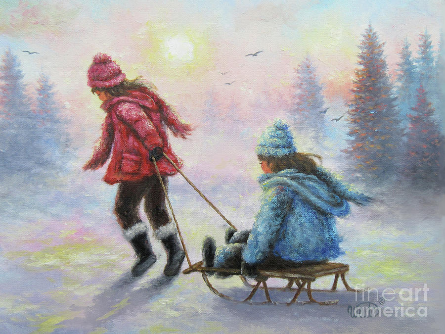 two-sisters-sledding-vickie-wade