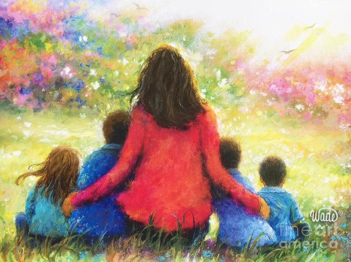 Denna bild har ett alt-attribut som är tomt. Dess filnamn är mother-three-sons-and-daughter-in-garden-vickie-wade.jpg