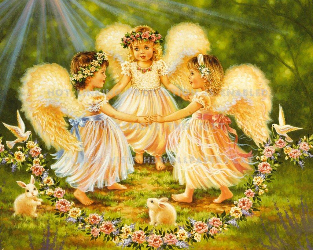 Denna bild har ett alt-attribut som är tomt. Dess filnamn är beautiful-angels-art-children-painting-8kfx.jpg