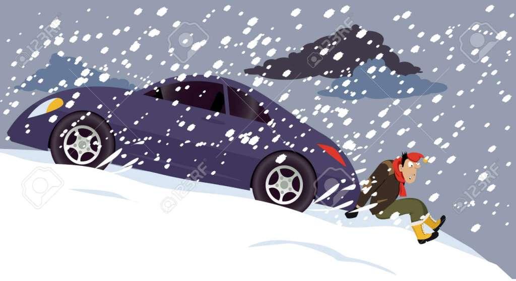 Denna bild har ett alt-attribut som är tomt. Dess filnamn är 74961555-man-pushing-a-stalled-car-under-a-heavy-snow-eps-8-vector-illustration.jpg